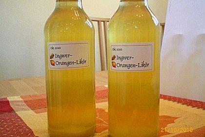 Ingwer - Orangen - Likör 1