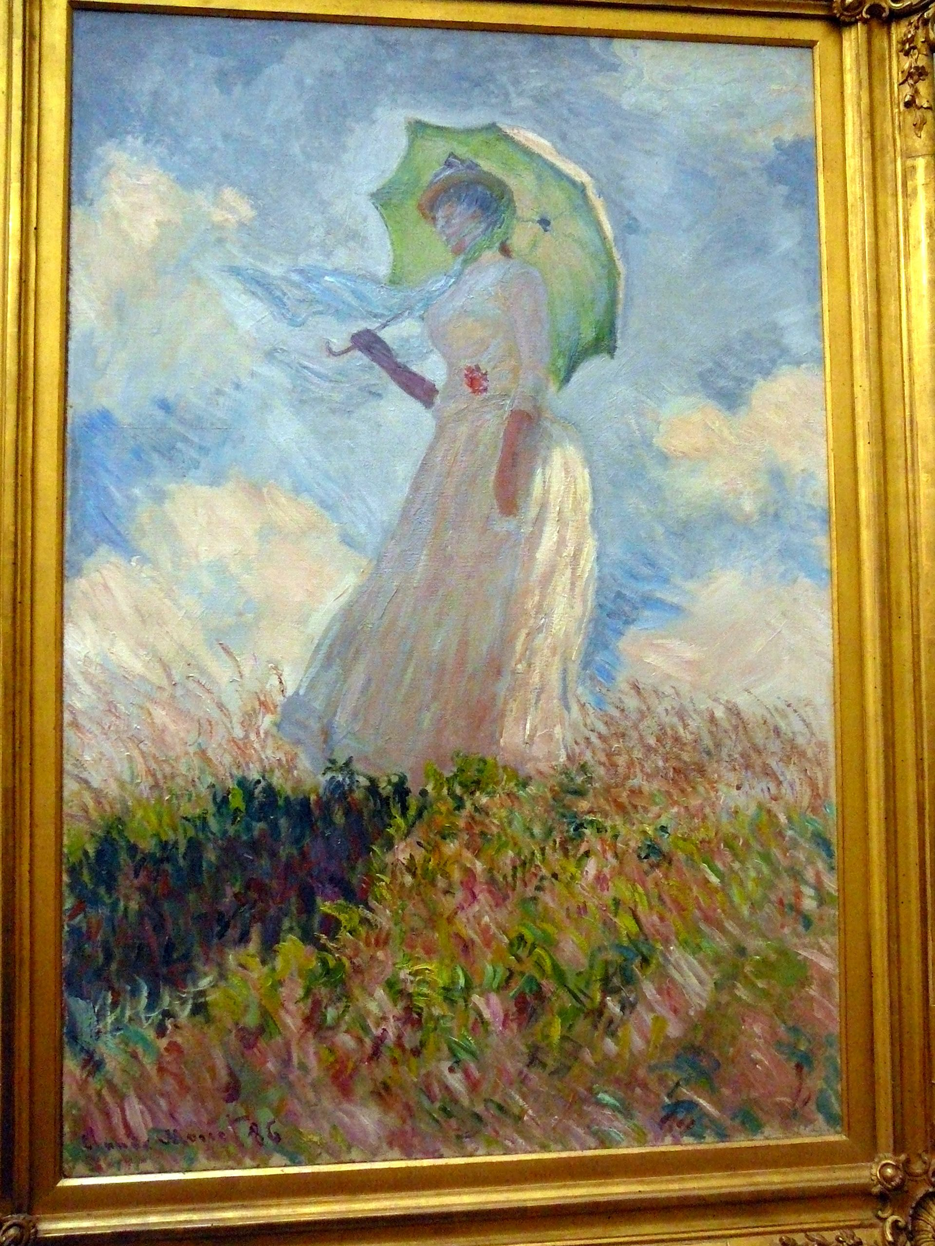 By Claude Monet 1886 Girl With Umbrella In The Orsay Museum