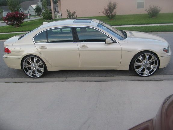 Bmw 745 On 24s Bmw 745 On 24 Xplosivecustomss 2003 Bmw 7 Series