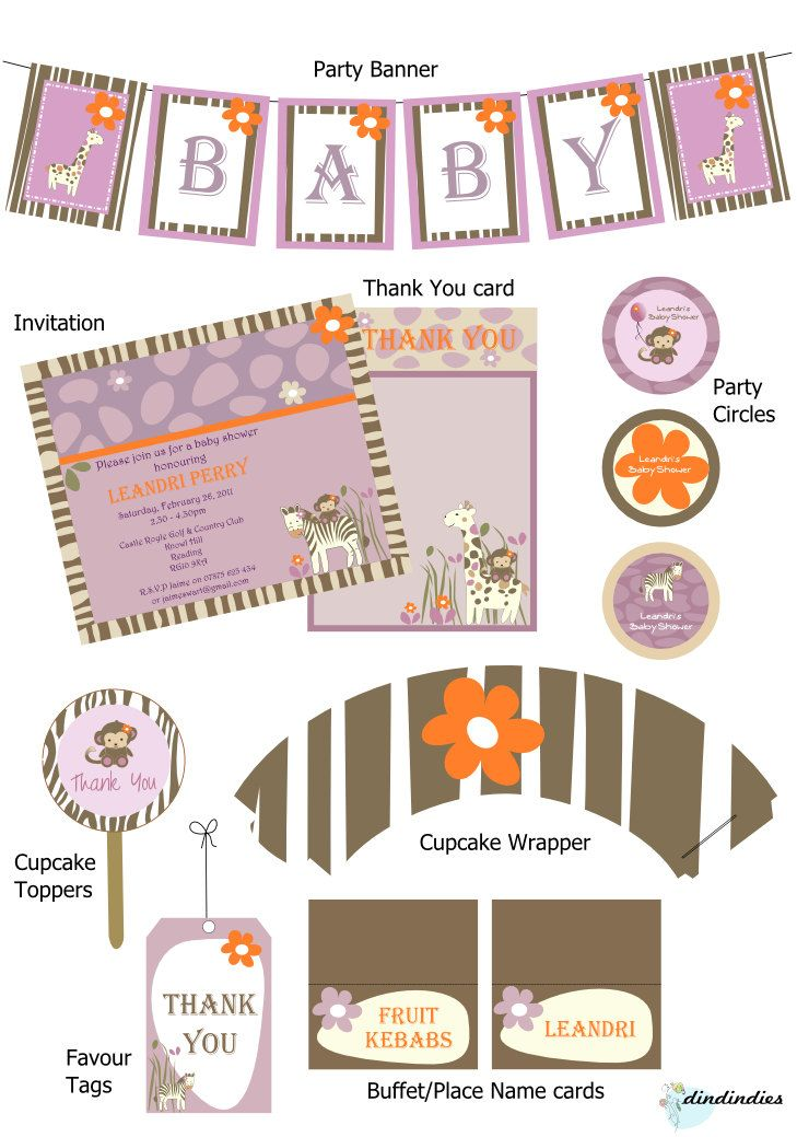 Cocalo Jacana Baby Shower Printable Party Collection Party Ideas