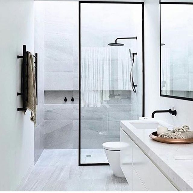 Nordic bathroom simplicity. via @abito.no #scandinavian #bathroom ...