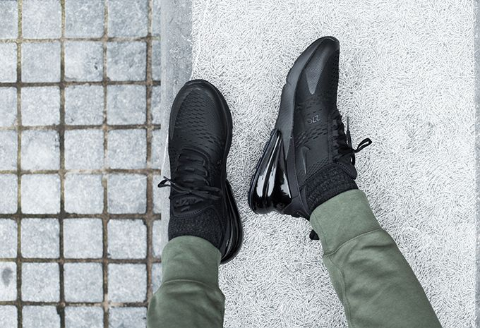 1459d930554 Nike Air Max 270 Triple Black  On-Foot Shots - The Drop Date