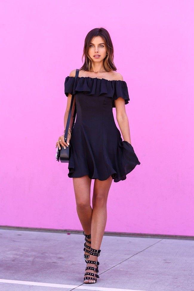 El little black dress se vuelve de lo más coqueto en verano ...