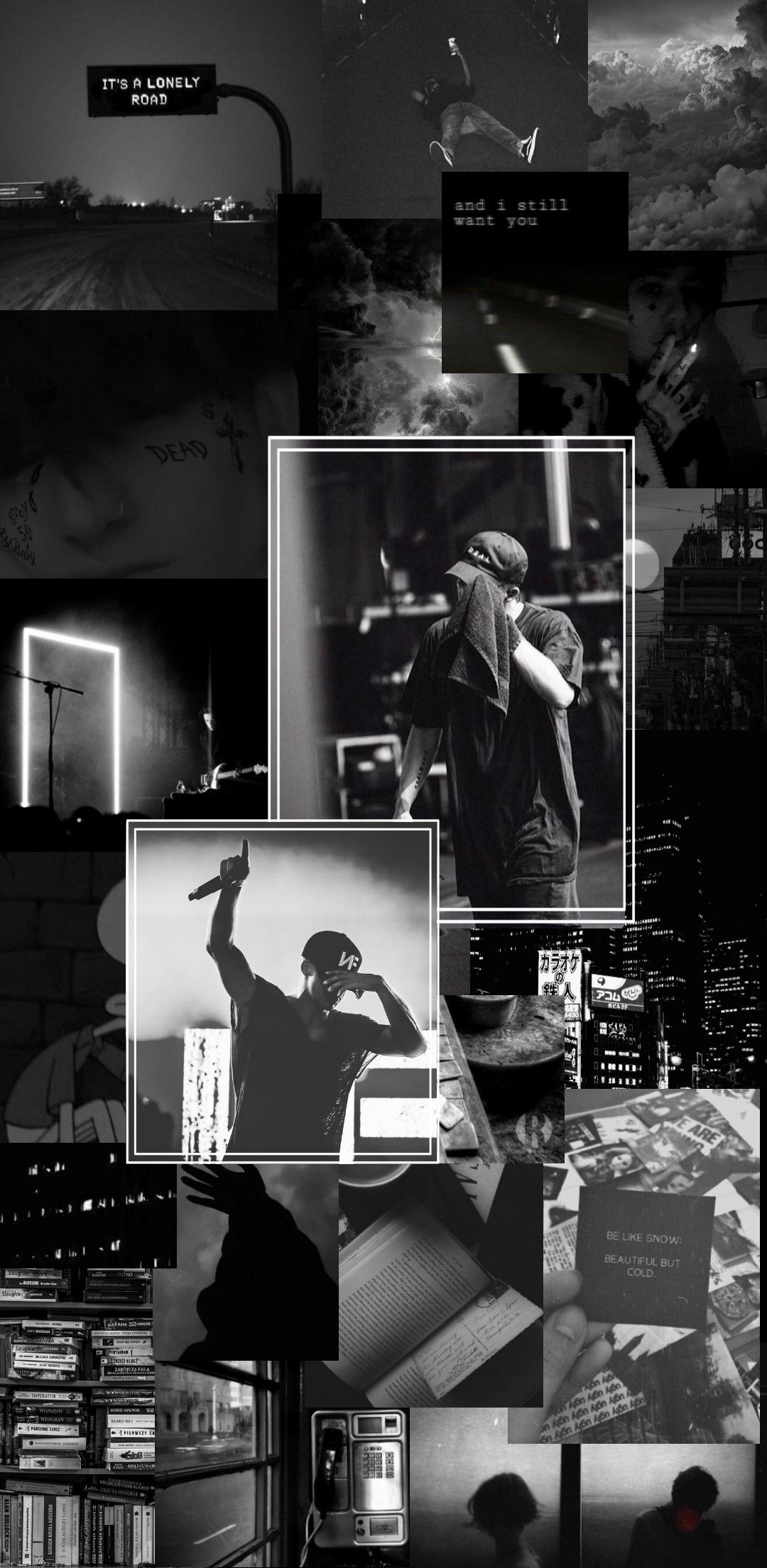 Nf Real Music Aesthetic Wallpaper Black And White Music Wallpaper Black Aesthetic Wallpaper Dark Background Wallpaper