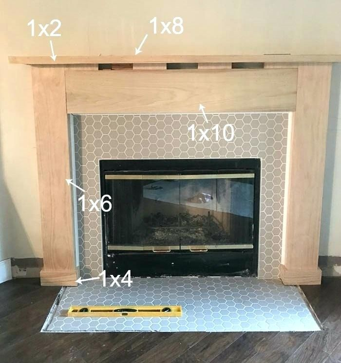 Build A Fireplace Mantels Fireplace Drab To Fab Fireplace Makeover