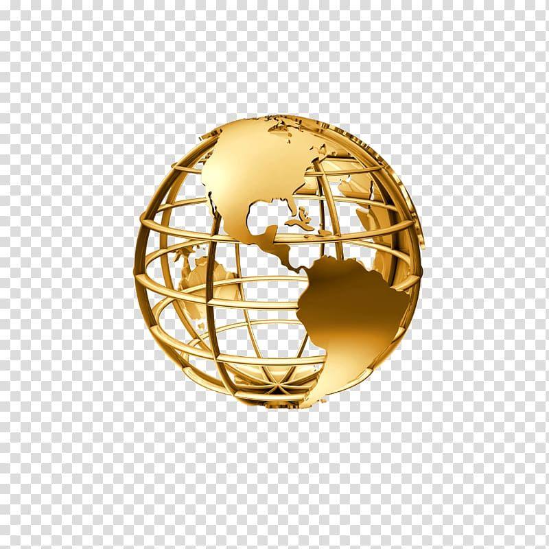 Gold Globe Illustration Golden Globe Transparent Background Png Clipart Gold Globe Globe Animation Globe Icon