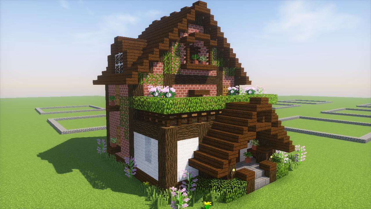 2017 08 21 23 17 14 Png Minecraft 家 レンガの家 マインクラフトの家