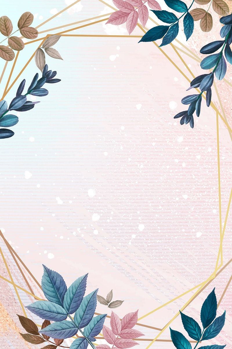 Download premium vector of Blank golden heptagon frame decorated with colorful leaves vector by Adjima about invitation, border botanical pink, luxury background illustration design, pink invitation, and free floral frame 593924