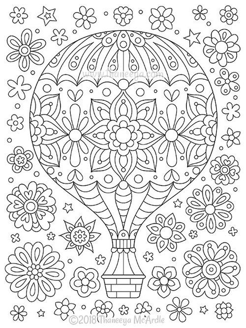Think Happy Coloring Book By Thaneeya Mcardle Thaneeya Com Mandala Coloring Pages Coloring Books Coloring Pages