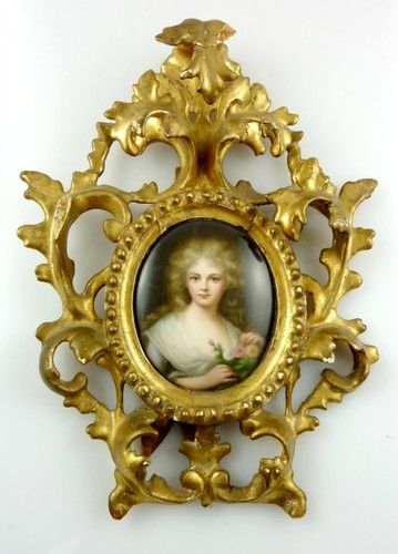 19th Century Porcelain Plaque Painting Hand painted KPM Style Stamped