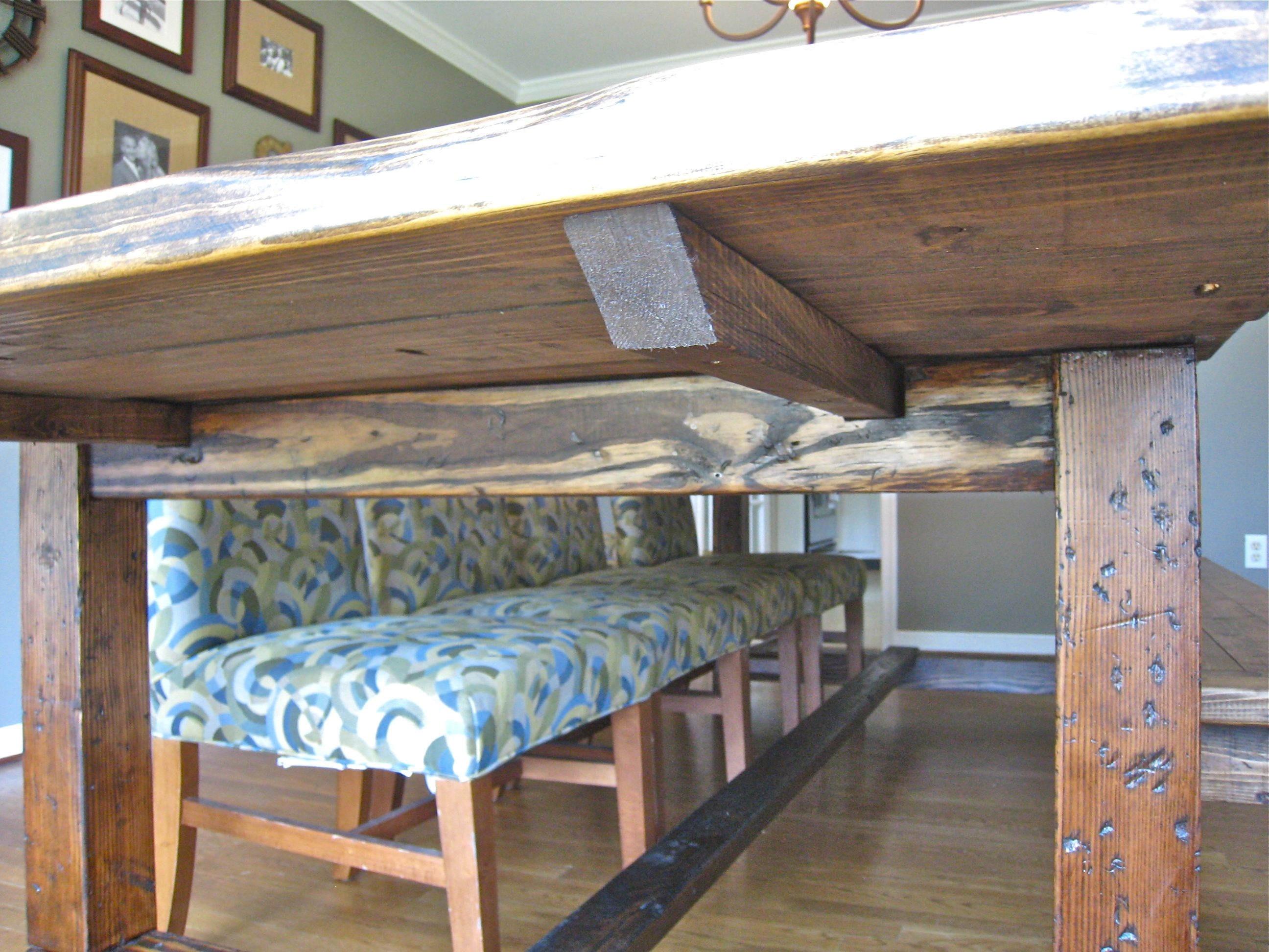 Benches for the Farmhouse Table Rustic farmhouse table