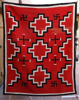Germantown Navajo Textiles Navajo Germantown Blanket With
