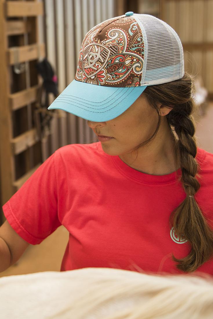 837901aa4 Ariat Women's Blue Paisley Print Logo Mesh Back Cap | Cowboy Hats ...