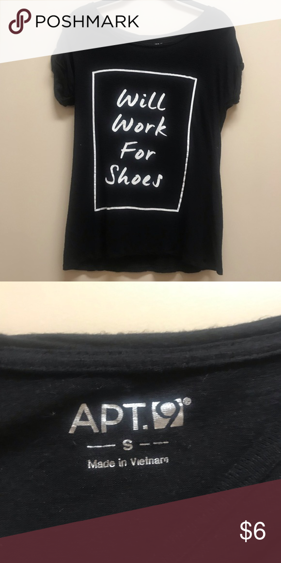 73e57984 🚨BUNDLE& SAVE🚨$6 T-Shirt •Brand: APT 9 •Size: Small •Good condition  BUNDLE & SAVE 2+ ITEMS 10% OFF! Tops Tees - Short Sleeve