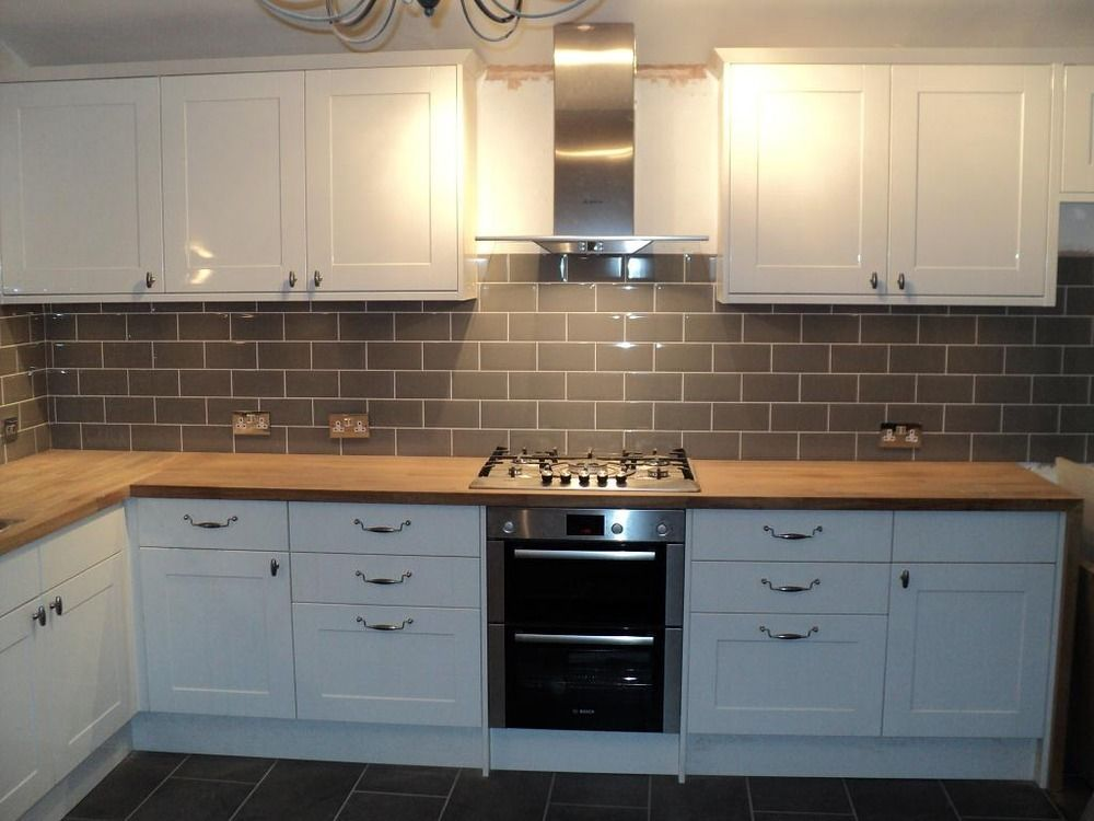 Tiles Against Cream Kitchen Grey Walls Google Search Kitchen