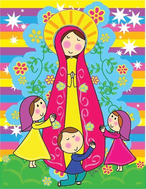 Virgen Del Carmen Caricatura Buscar Con Google Virgen Maria