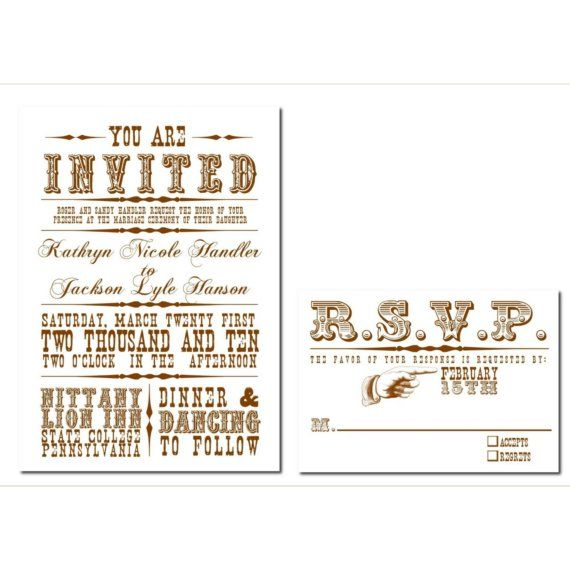 Old Western Wedding Invitation Set Digital Design By Kindlyspoken Western Wedding Invitations Wedding Invitation Sets Western Wedding