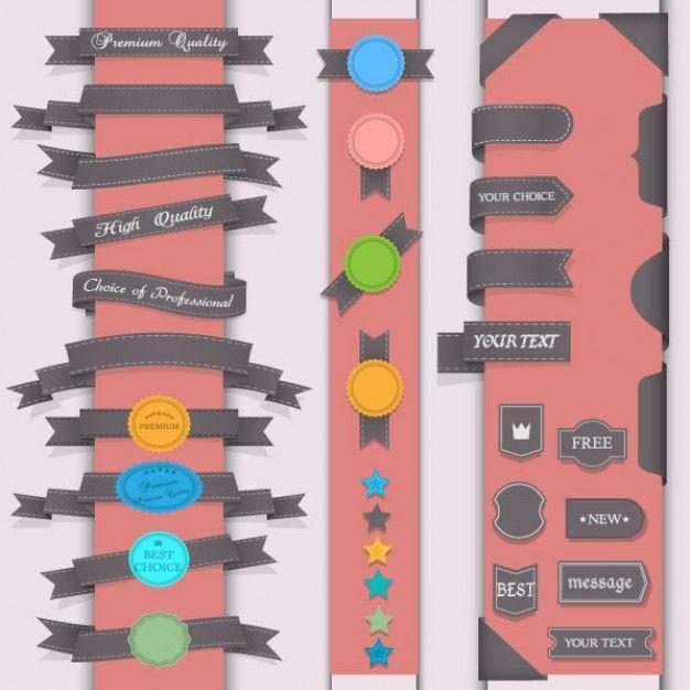 o vetor emblemas projeto padrão pasta