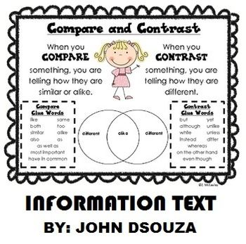 Compare And Contrast Information Text Lesson And Resources Compare And Contrast Teaching Writing 3rd Grade Reading Compare and contrast reading worksheets