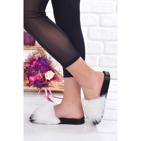 Ayakland Mrt 132 Gunluk Tuylu Ev Ici Bayan Terlik Beyaz Modeli Ve Fiyati 20yterayk000001 A 2020 Terlik Sandalet Topuklular