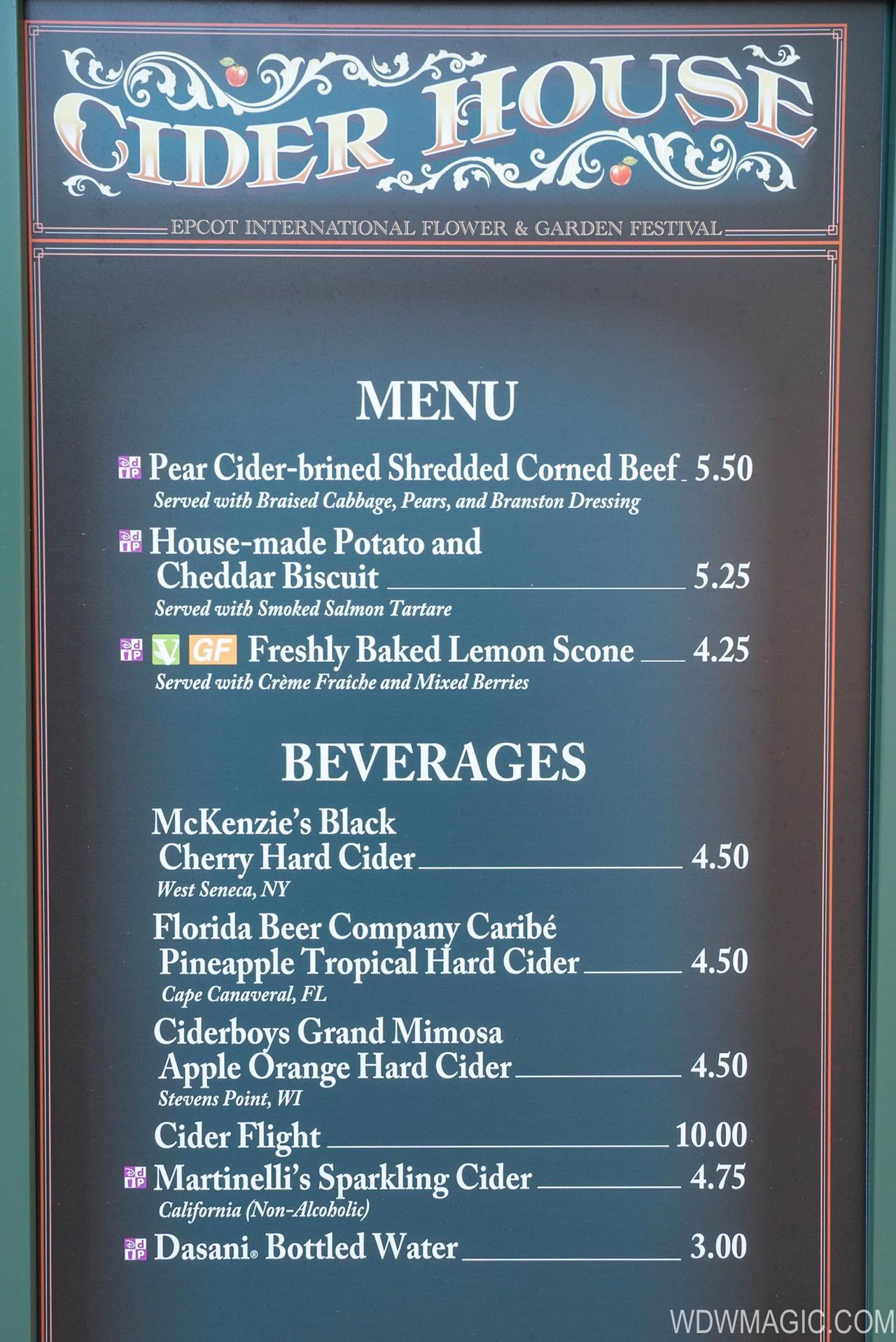 2018 Epcot Flower and Garden Festival Outdoor Kitchen kiosks - Cider ...