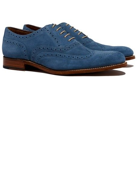 Dylan Wingtip Oxford -- Blue Suede