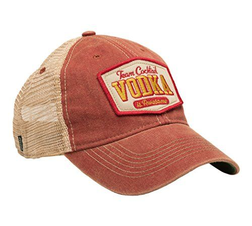 d3cae19b0a9 Team Cocktail Vodka Is Awesome Mesh Trucker Hat - Cardinal Hat (Red w  Gold