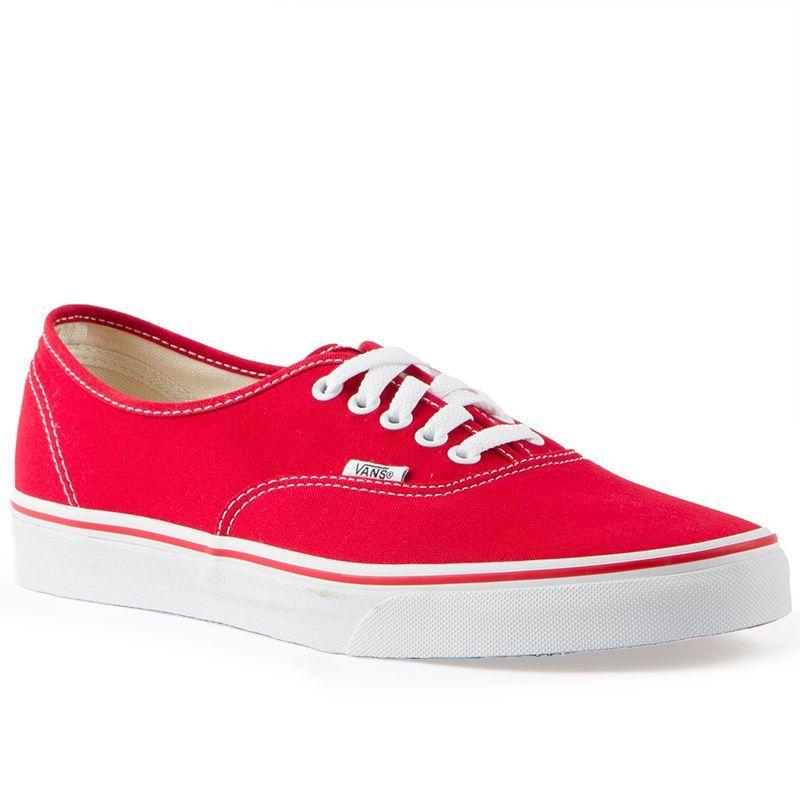 200ce0e018dc Vans Classics Authentic Red Mens Shoes Red Vans Shoes