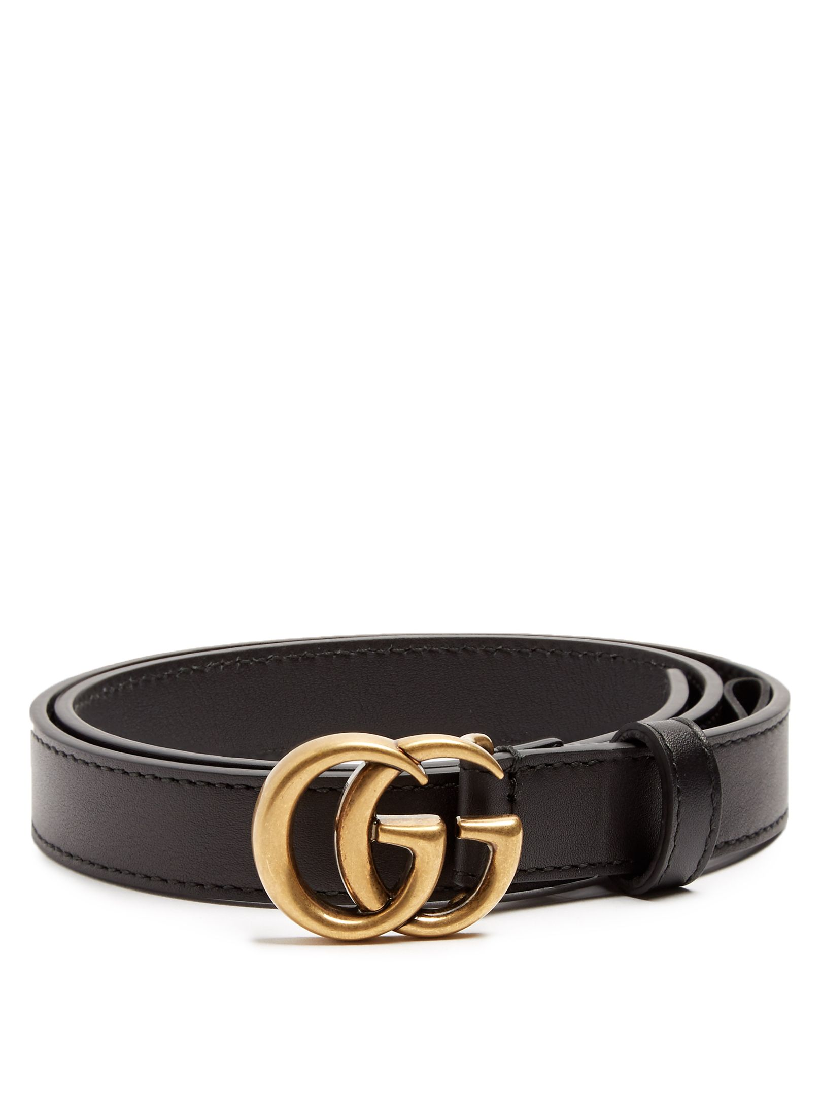 Click here to buy Gucci GG-logo 2cm leather belt at MATCHESFASHION ... e0760aa61217