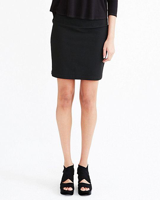 Eileen Fisher Stretch-Crêpe Pencil Skirt - I wear mine a bit longer!