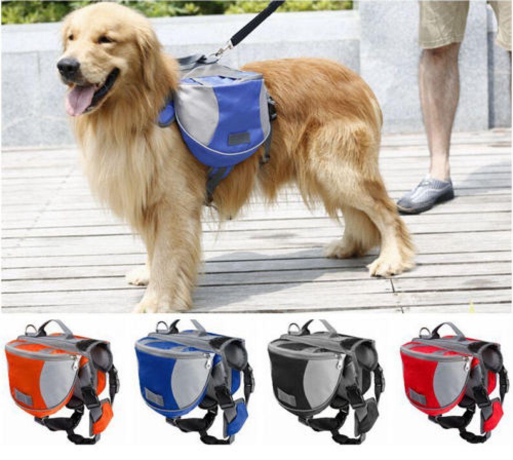 Pet Pack Dog Saddle Bag Backpack Carrier Outdoor Travel Hiking