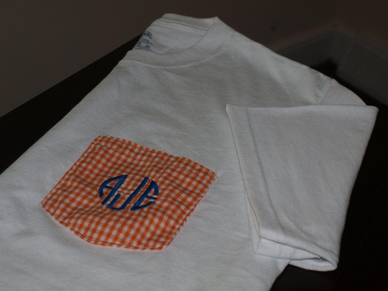 Monogrammed Pocket Short Sleeved T-Shirt