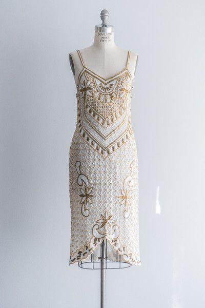 1980s Silk Beaded Dress   shopgossamer.com