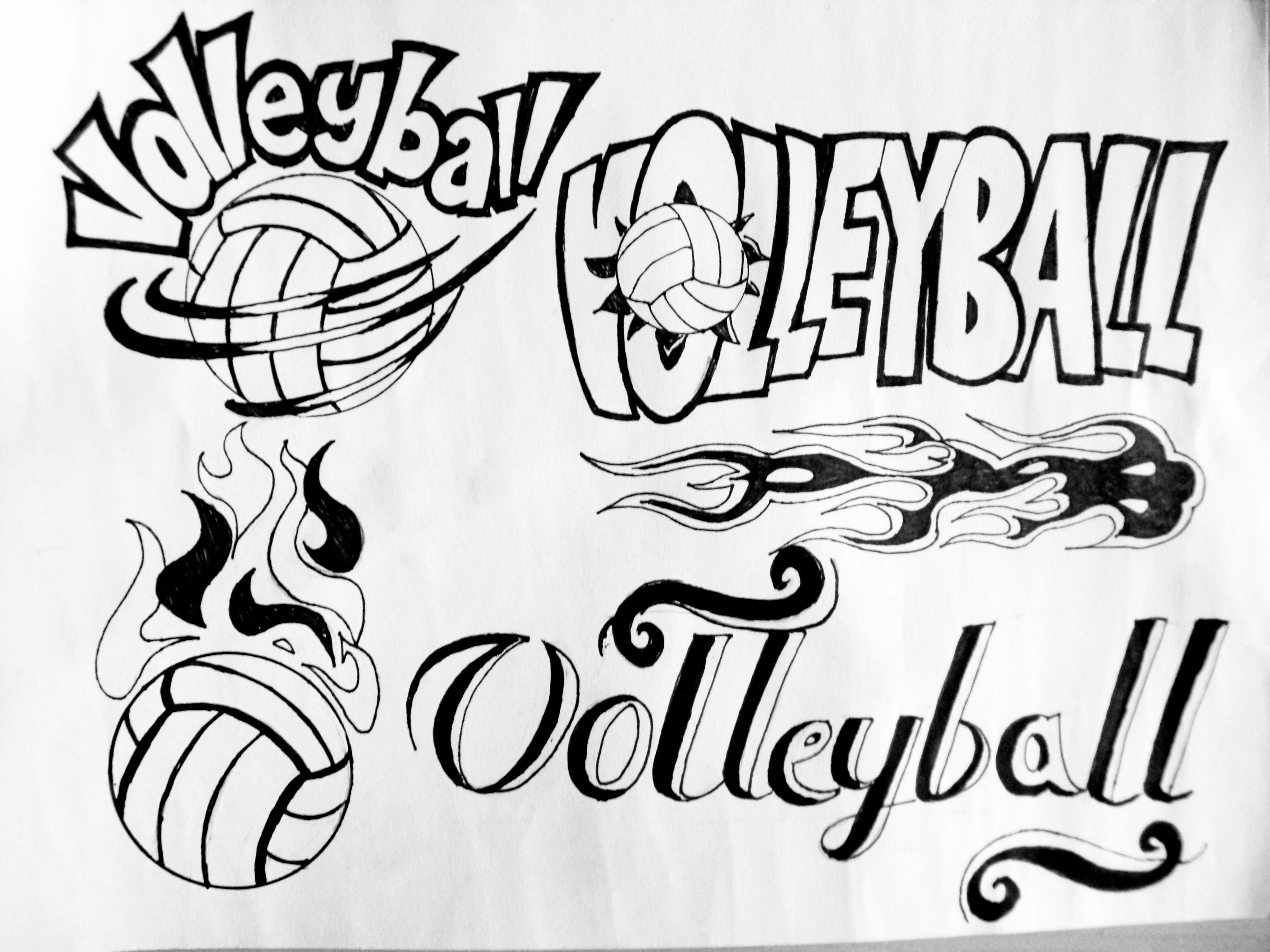 Poster design drawing - Artwork Volleyball Poster Logo Design Aep E Portfolio