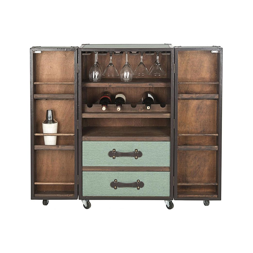 Living Room Bar Cabinet Turn Media Chest Into This With A Little Diy Steamer Trunk Bar
