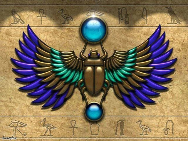 Simbolos Egipcios Antiguo Arte Egipcio Arte Egipcio Escarabajo Egipcio