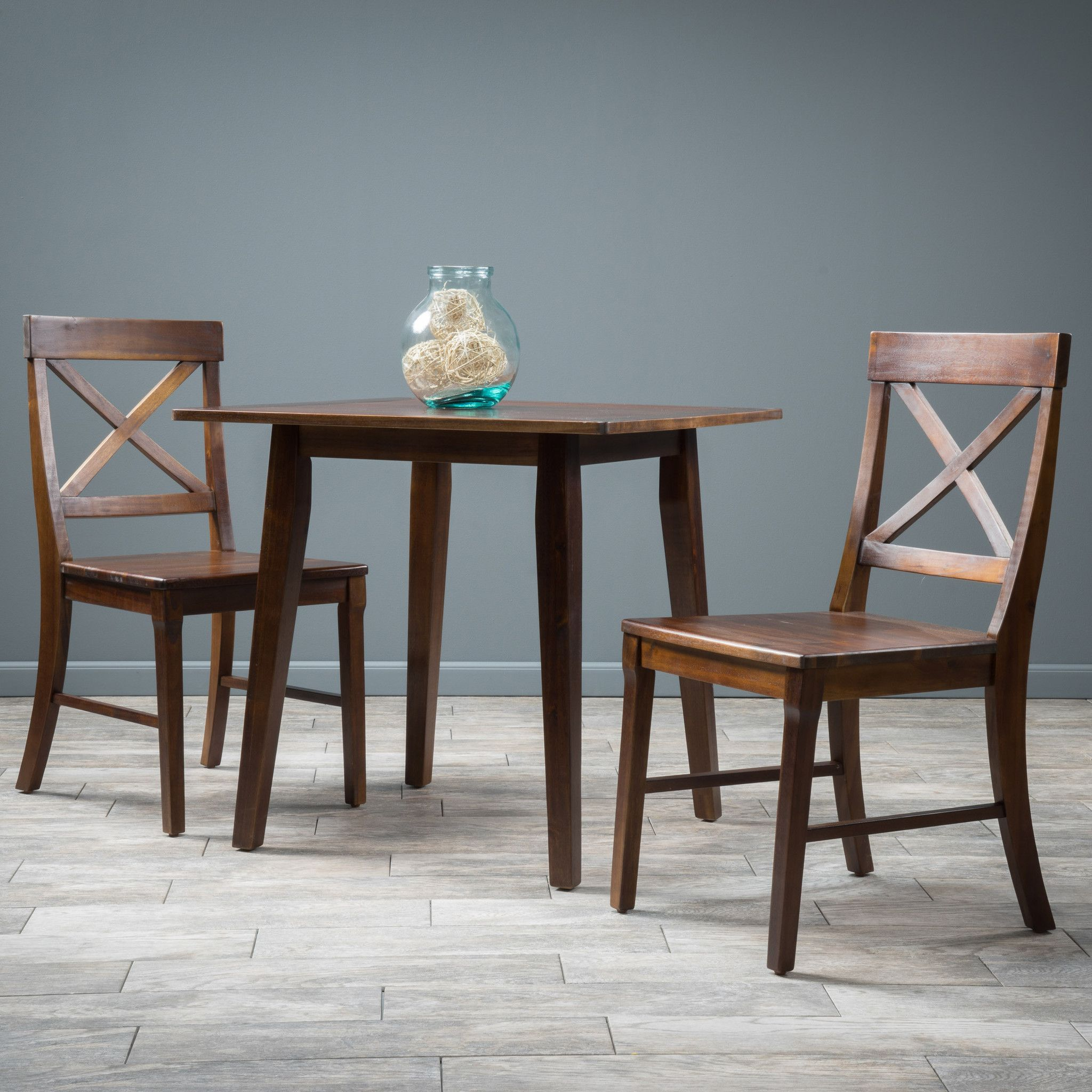 Potter 3pc Mahogany Stained Wood Dining Set | Mahogany stain and ...