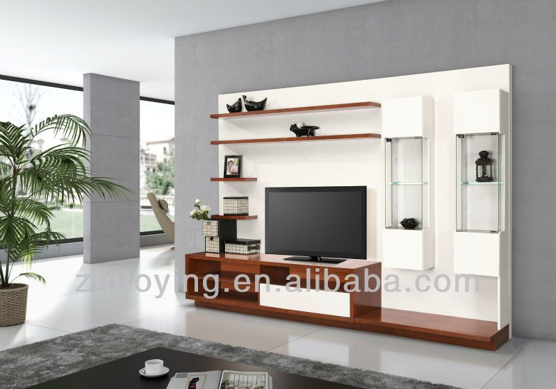 Led Tv Wall Unit Design Furniture Mixing Black And White
