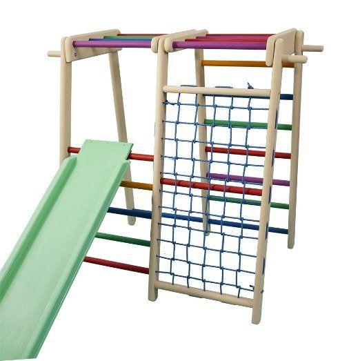funnyclouds kinder aktivit tsspielzeug kletterturm mit rutsche fitboy bunt spielcenter. Black Bedroom Furniture Sets. Home Design Ideas