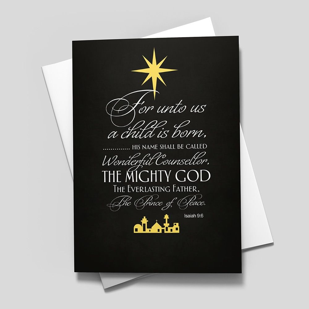 Isaiah 96 Religious From Cardsdirect My Christmas Board