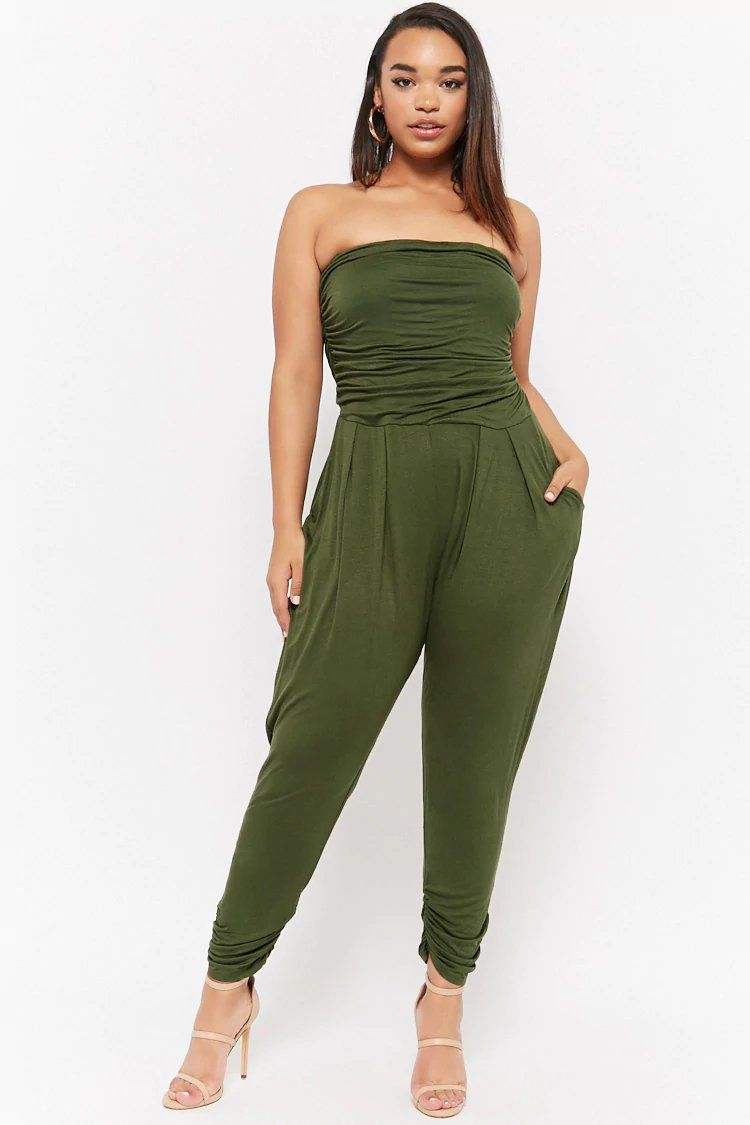 67db1b52467 Product Name Plus Size Strapless Jumpsuit