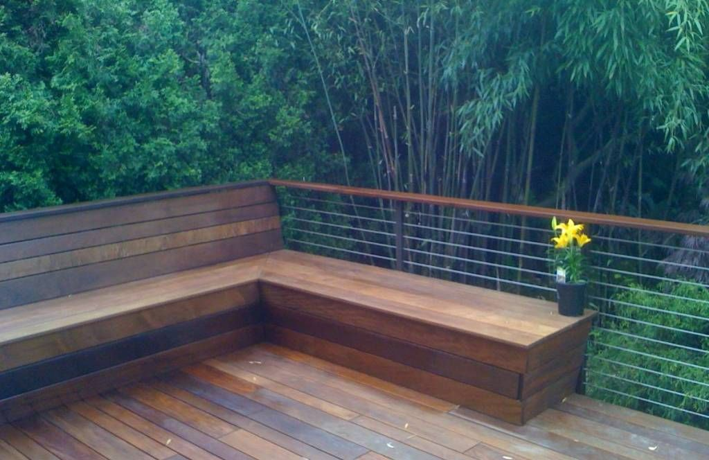 Landscaping And Outdoor Building Built In Seating Deck