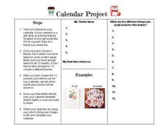 Diy Calendar Project Diy Calendar Reasoning Skills Art Calendar