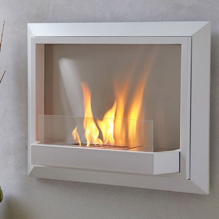 just hang like a picture indoors home wall mounted fireplace rh pinterest com