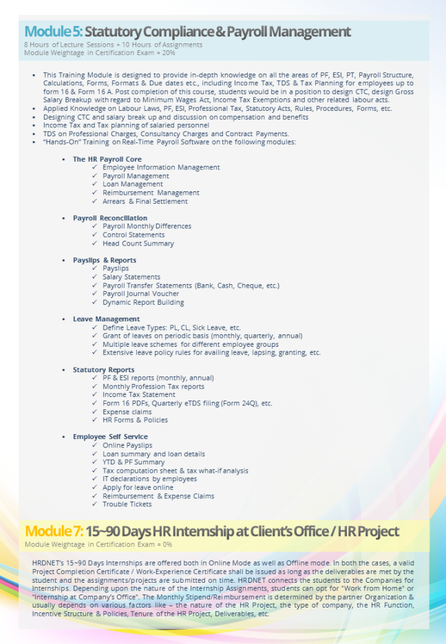 Hr Certification Course Brochure Pg 12 Download The Full 35 Mb