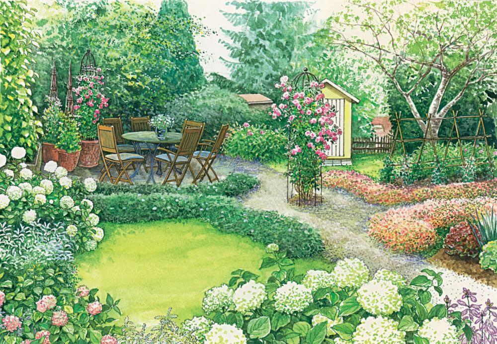 Ein Garten Wird Erwachsen Garten Garten Anlegen Garten Grundriss