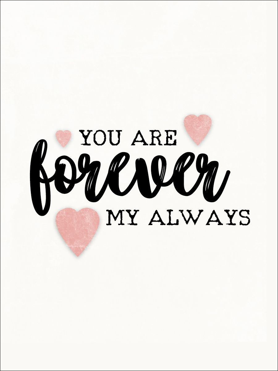 You Are Forever My Always 1 - Freebie In The Pocket Design (3x4 Inch)