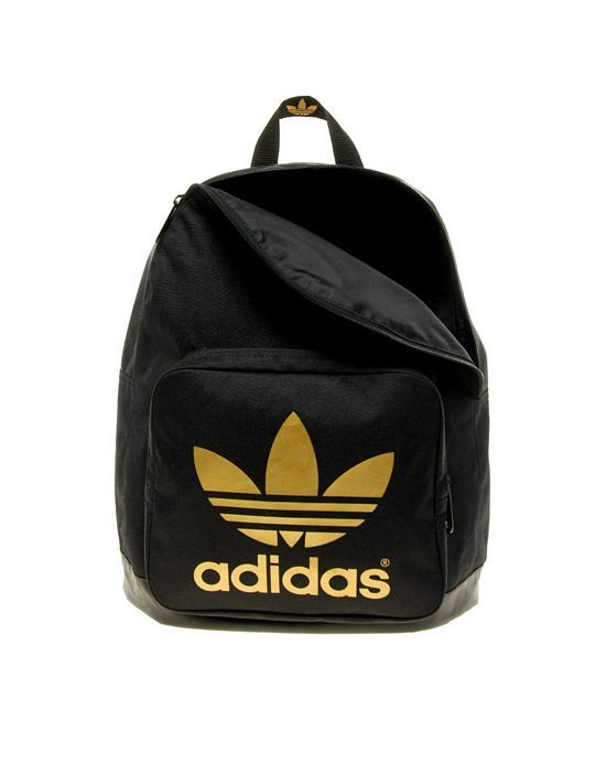 adidas black and gold backpack