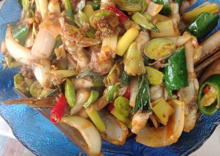 Resep Kerang Bambu Dengan Pete Masak Bumbu Sambel Goreng Oleh Angelika Natasia Resep Resep Kerang Makanan Dan Minuman Makanan