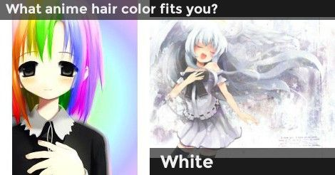 What Anime Hair Color Fits You Quizzes Anime Hair Color
